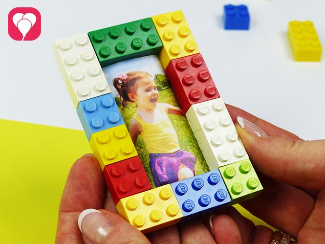Lego Spiele für Drinnen - Bild mit Legosteinen einrahmen