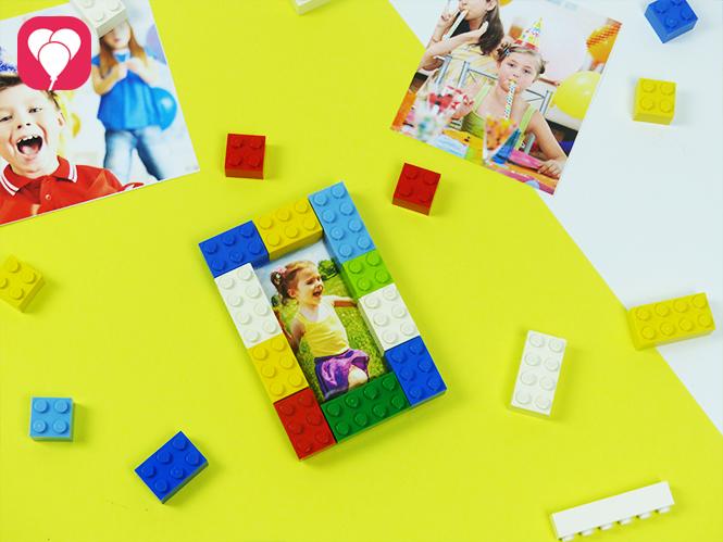 Lego Spiele für Drinnen - Bilderrahmen aus Legosteinen