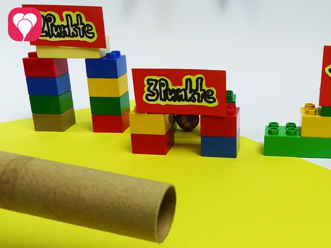 Lego Spiele für Drinnen - Mini-Golf mit Legosteinen