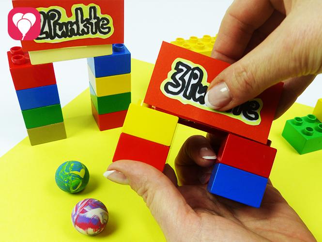 Lego Spiele für Drinnen - Minigolf Hindernisse basteln