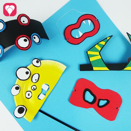 Masken basteln für einen Karneval Geburtstag