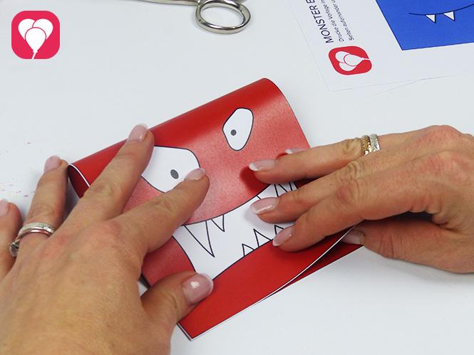 Monster Einladungskarten falten