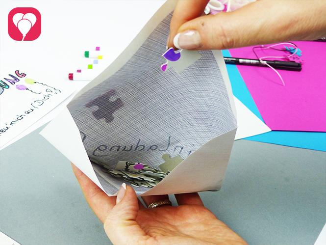 Puzzle Einladung im Briefumschlag