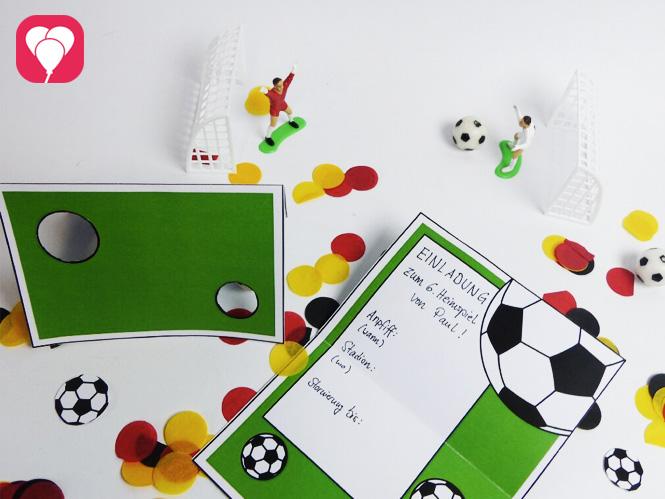 Fußball Geburtstag - Torwand Einladung für Fußball Fans