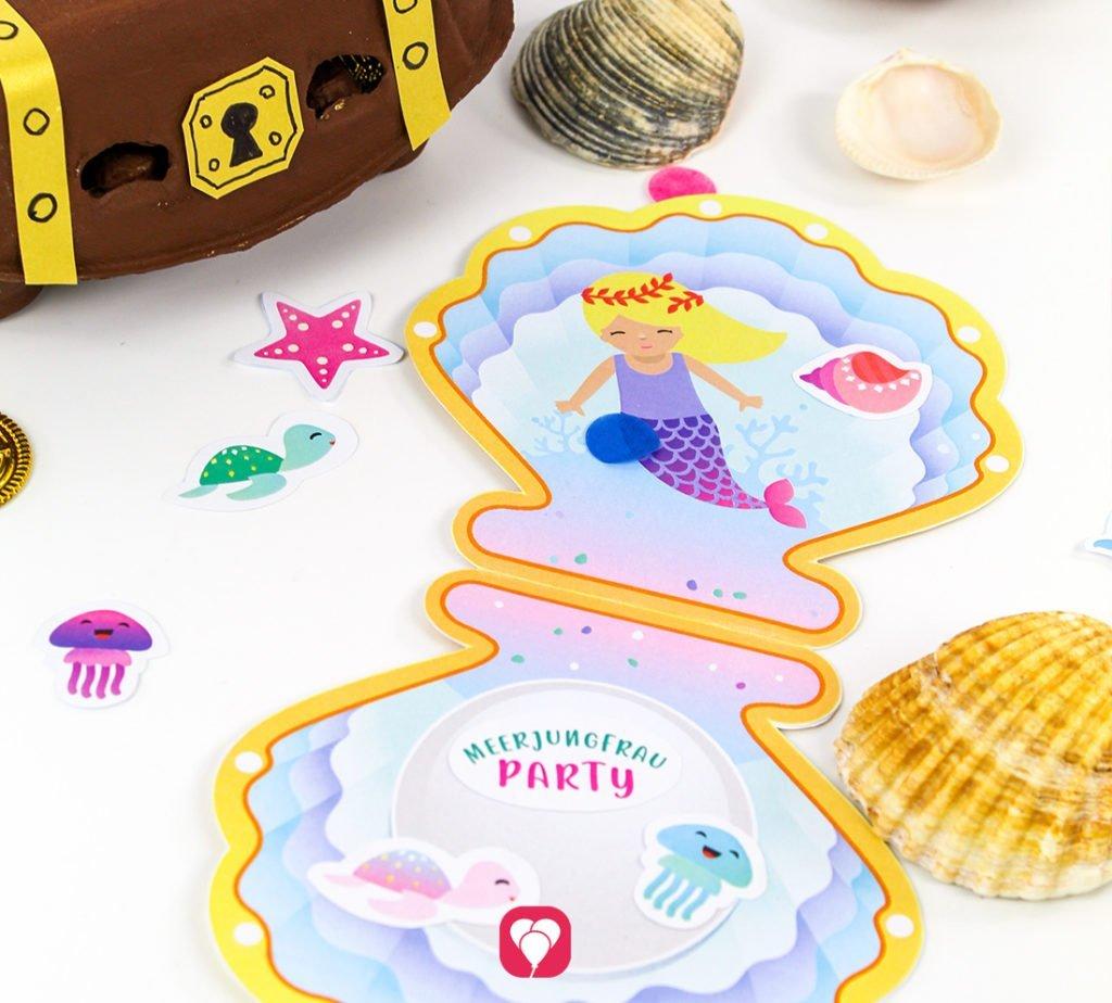 Meerjungfrau Einladung - balloonas