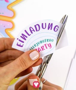 Meerjungfrau Einladung - Sticker