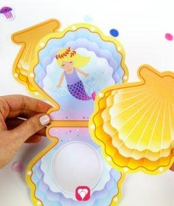 Meerjungfrau Einladung - kleben