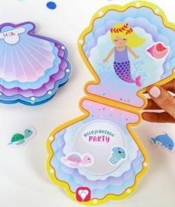 Meerjungfrau Einladung - dekorieren