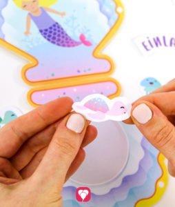 Meerjungfrau Einladung -Sticker
