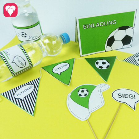 Produkte für den Fußball Geburtstag - von der Einladung bis zur Party Deko
