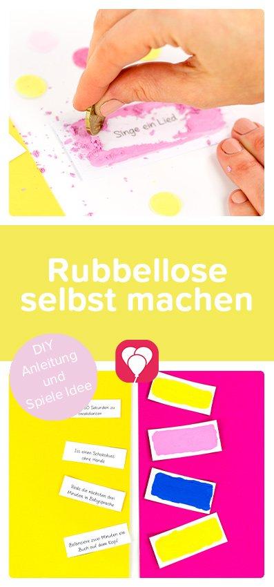 Rubbellose selbst machen - balloonas Pinterest Pin