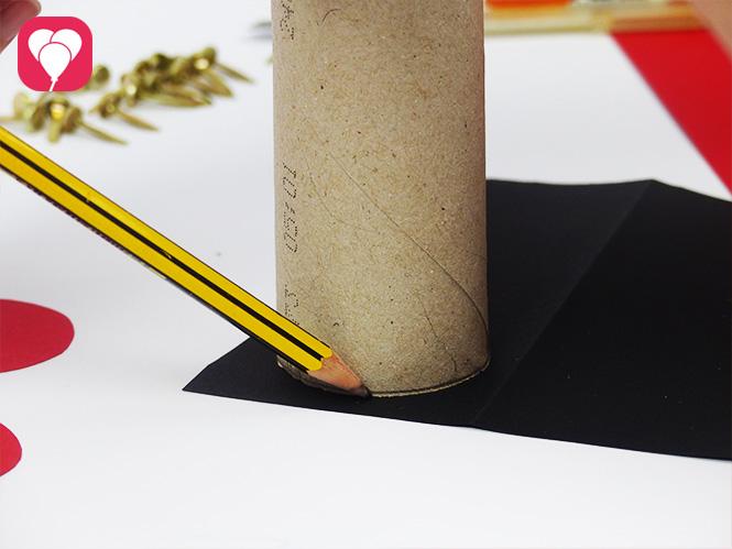 DIY Rennauto Give Aways basteln - Reifen aufmalen