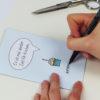 """""""Zeit für Kuchen"""" Design Klappkarte als Gutscheinkarte"""