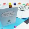 """""""Zeit für Kuchen"""" Design Klappkarte in hellem Blau"""