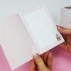 """""""Zeit für Kuchen"""" Design Klappkarte (rosa) - Innenseite"""