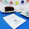 """""""Zeit für Kuchen"""" Design Postkarte als Glückwunschkarte"""