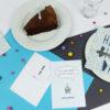 """""""Zeit für Kuchen"""" Design Postkarte als Grußkarte"""