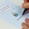 """""""Zeit für Kuchen"""" Design Postkarte als Gutschein"""