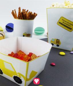 Bauarbeiter Snack Becher in verschiedenen Größen und Designs