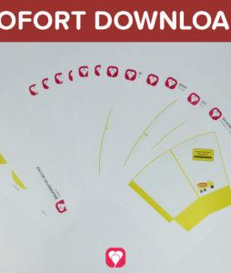 Bauarbeiter Snack Becher und -Tüten als Sofort-Download