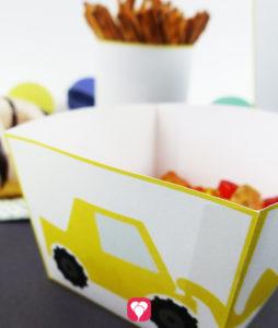 Bauarbeiter Snack Tüten in klein und groß