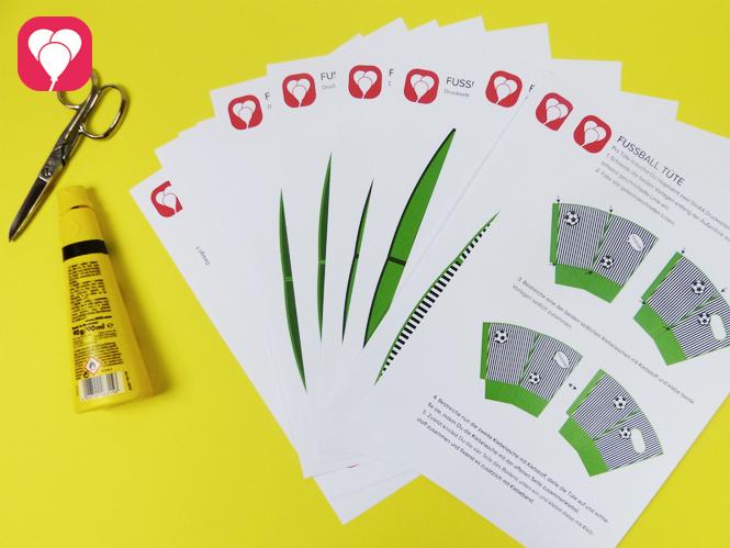 Fussball Snacks im Snack Becher - Vorlage und Zusatzmaterial