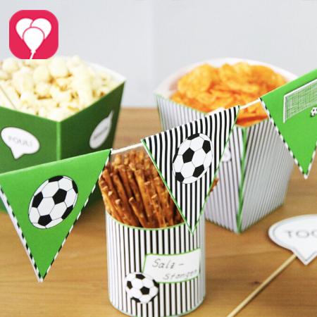 Fussball Snacks im Snack Becher - gut vorbereitet für die Fussball WM