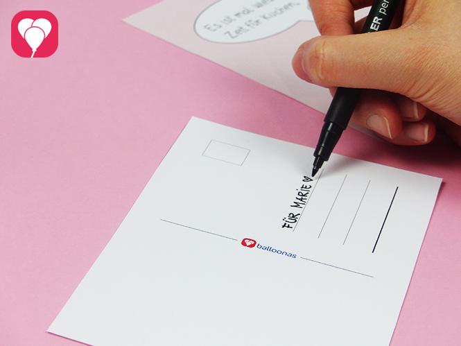 Kuchen Postkarte herunterladen und beliebig oft verschicken - Absender beschriften