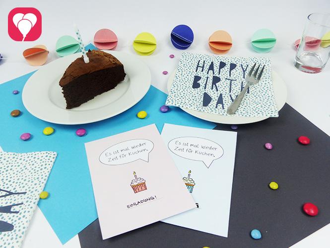 Kuchen Postkarte herunterladen und beliebig oft verschicken - Such Dir Dein Lieblingsdesign aus
