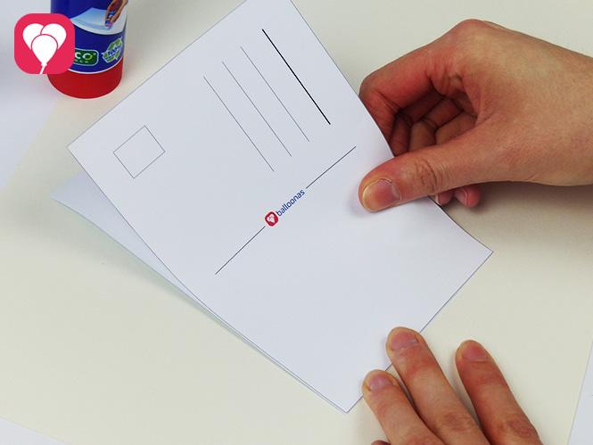 Kuchen Postkarte herunterladen und beliebig oft verschicken - Vorder- und Rückseite zusammenkleben