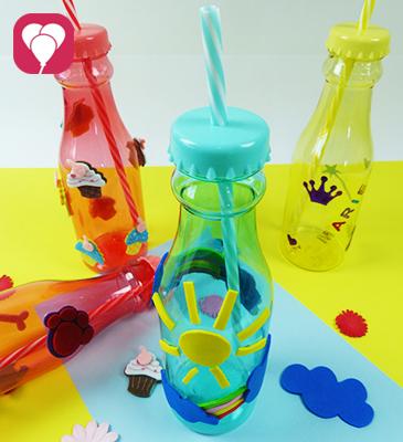 Bunte DIY Idee - Trinkflaschen dekorieren