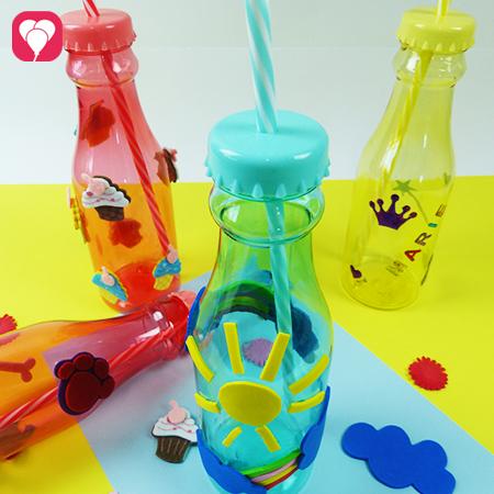Bunte Trinkflaschen selbst gestalten