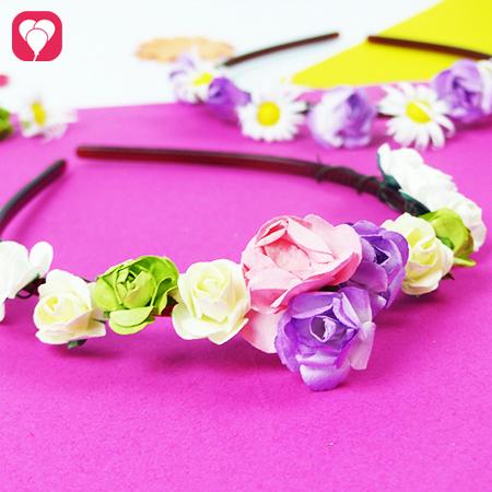 DIY Idee - Blumenkranz für Blumen Mädchen