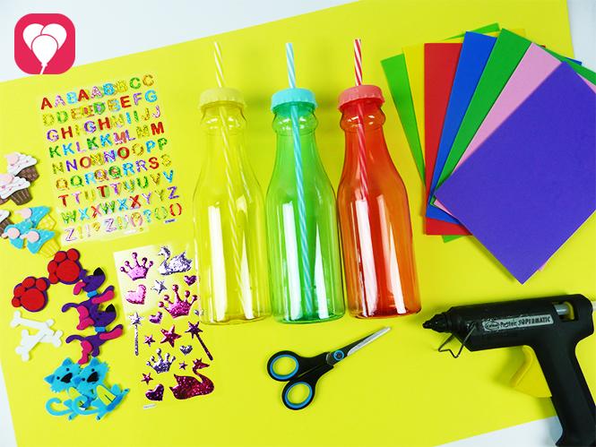 DIY Trinkflaschen gestalten - Material