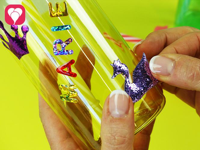 DIY Trinkflaschen mit Giltzer Sticker dekorieren