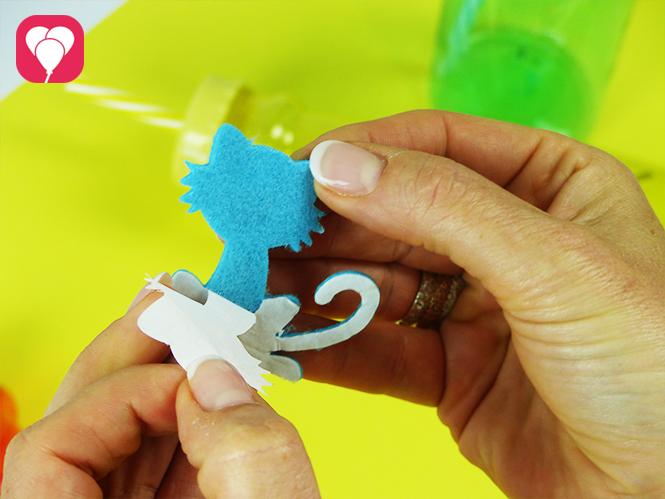 DIY Trinkflaschen - selbstklebende Motiv Sticker aus Filz