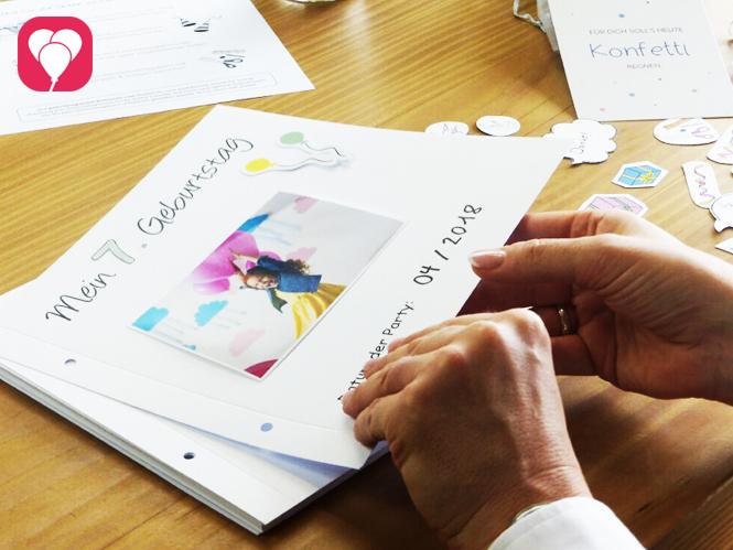 Das balloonas Geburtstagsbuch ist eine einzigartige Erinnerung und ein tolles Geburtstagsgeschenk