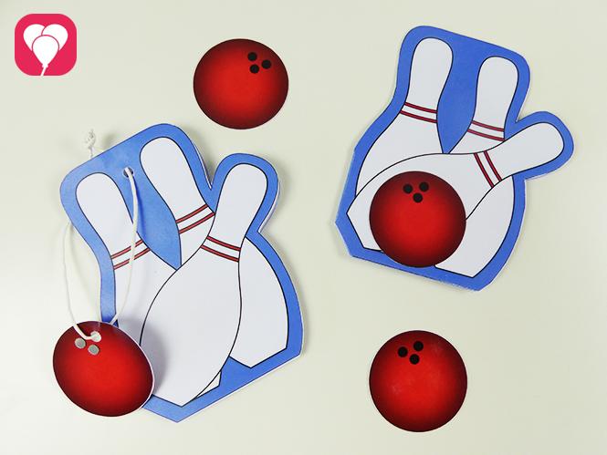 Einladung zum Bowling Kindergeburtstag basteln - in zwei verschiedenen Versionen