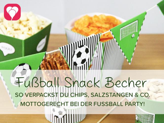 Fussball Snack Becher für Knabbersachen während dem spannenden Fußball Spiel