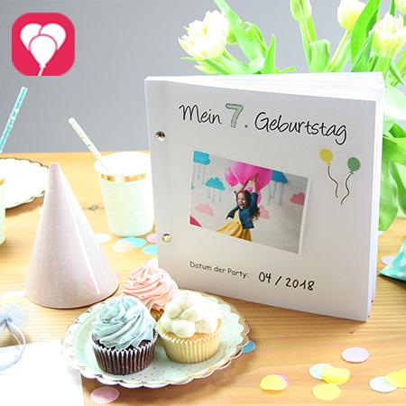 Halte Deine liebsten Geburtstagsmomente im balloonas Geburtstagsbuch fest