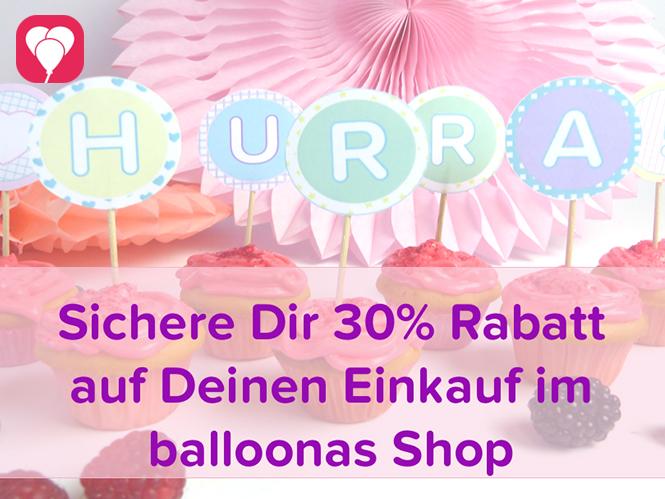 Rabattaktion balloonas Shop