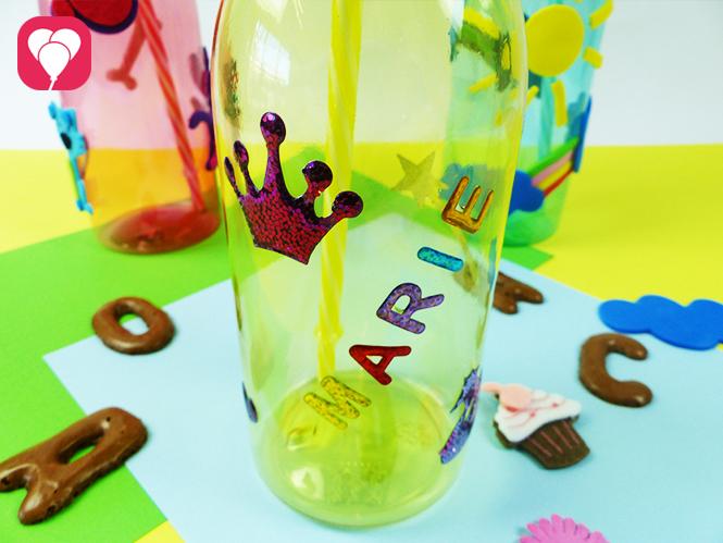 Trinkflaschen mit Namen beschriften