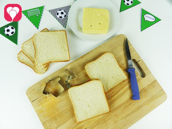 WM Toasts als leckerer Fussball Snack - Zutaten