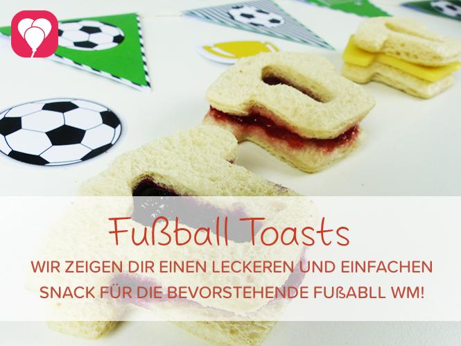 WM Toasts als leckeren Snack fürs Fussball Spiel