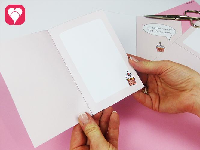 DIY Klappkarte mit viel Platz fuer deine persönliche Botschaft