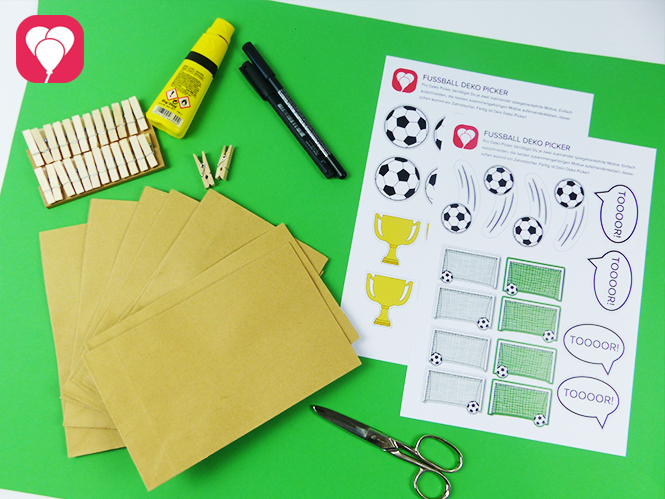 Fussball Geschenktüten basteln - Zusatzmaterial