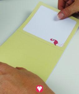 Flamingo Klappkarte - Schritt 2