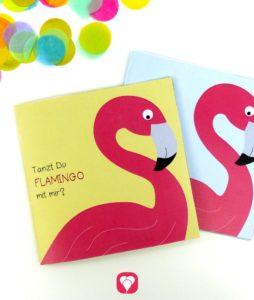 Flamingo Einladung für den Kindergeburtstag