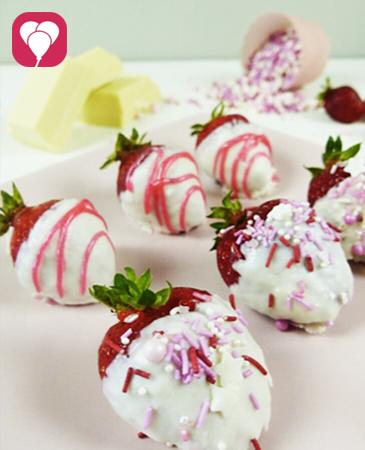 Schoko Erdbeeren verzieren - lecker und gesund