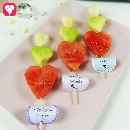 Sommer Snacks mit Melone